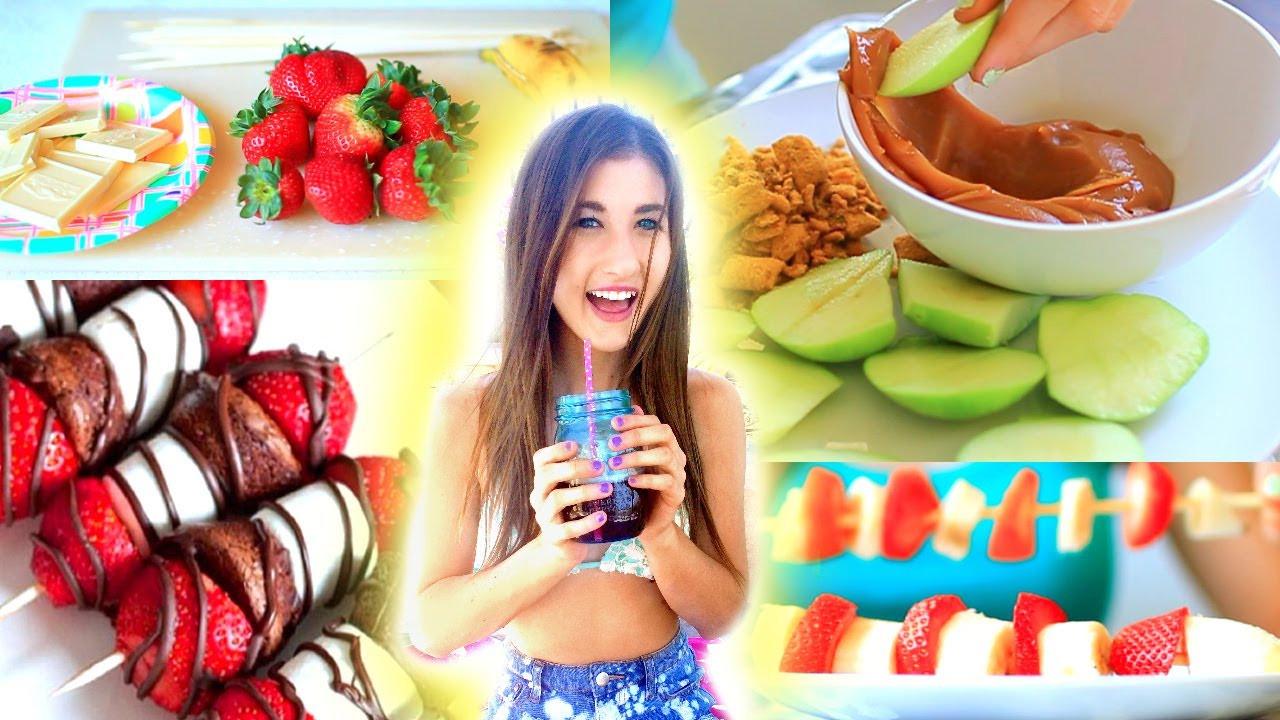 Easy Healthy Snacks To Make  DIY Treat Ideas