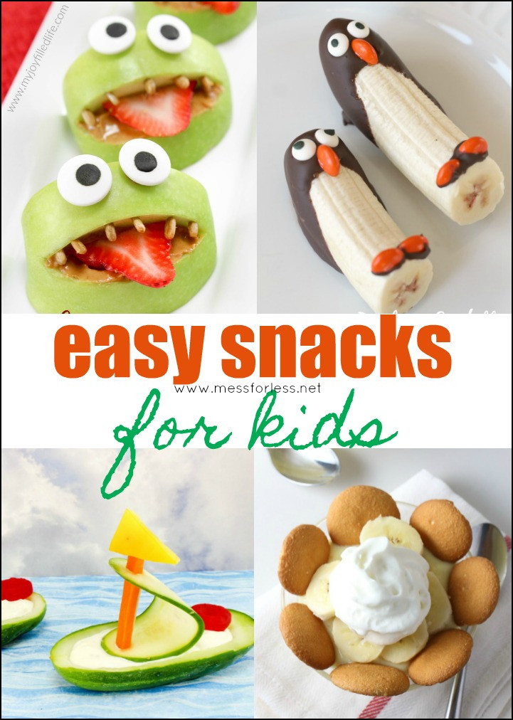 Easy Healthy Snacks To Make  Easy Snacks for Kids Mess for Less