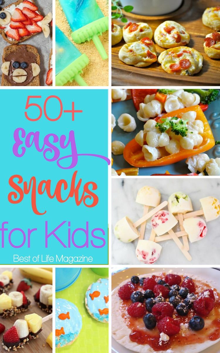 Easy Healthy Snacks  Easy Snacks for Kids 50 Quick Healthy & Fun Recipes