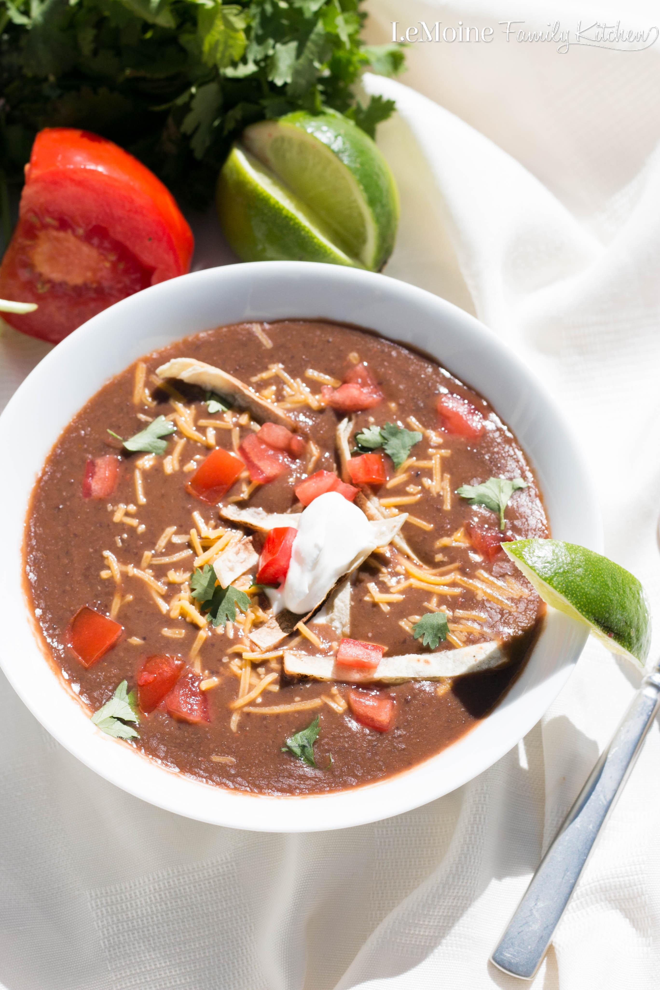 Easy Healthy Soups  Easy Black Bean Soup LeMoine Family Kitchen