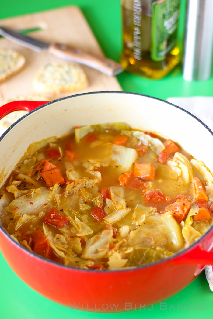 Easy Healthy Soups  Light and Healthy Cabbage Soup with Easy Cheese Toasts