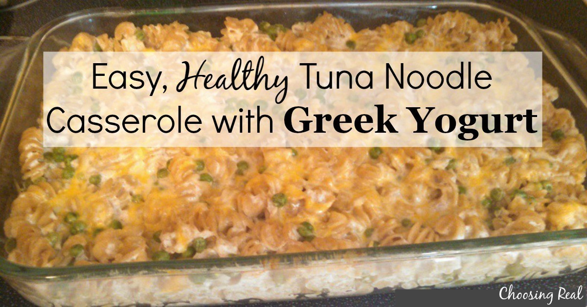 Easy Healthy Tuna Noodle Casserole  Easy Healthy Tuna Noodle Casserole with Greek Yogurt