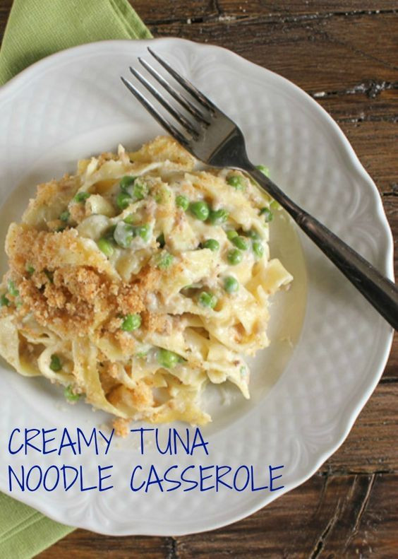 Easy Healthy Tuna Noodle Casserole  Creamy Tuna Noodle Casserole quick easy and so creamy a
