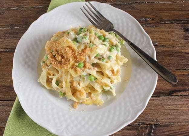 Easy Healthy Tuna Noodle Casserole  Easy Creamy Tuna Noodle Casserole