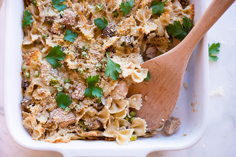 Easy Healthy Tuna Noodle Casserole  Healthy Tuna Noodle Casserole • A Sweet Pea Chef