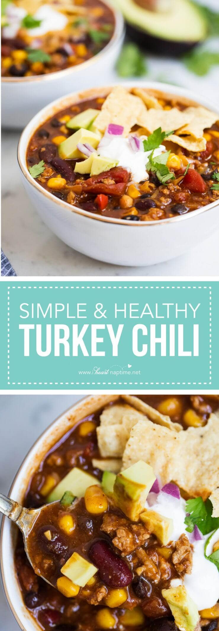 Easy Healthy Turkey Chili  real simple turkey chili recipe