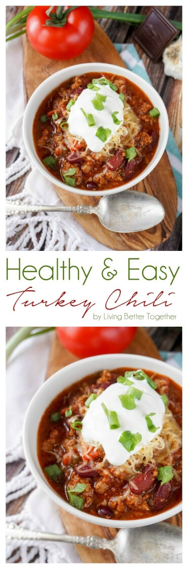 Easy Healthy Turkey Chili  Healthy and Easy Turkey Chili Sugar & Soul