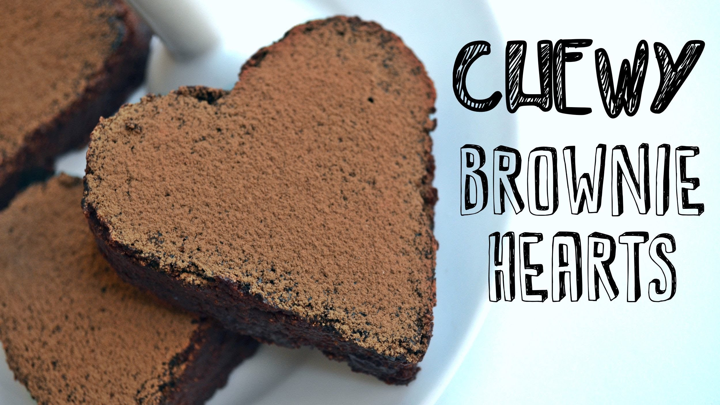Easy Healthy Vegan Desserts  Chewy Chocolate Brownie Hearts Recipe