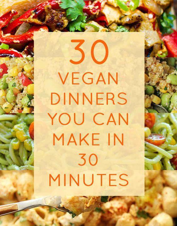 Easy Healthy Vegan Dinner Recipes  Healthy vegan recipes Vegan ve arian and Ve arian