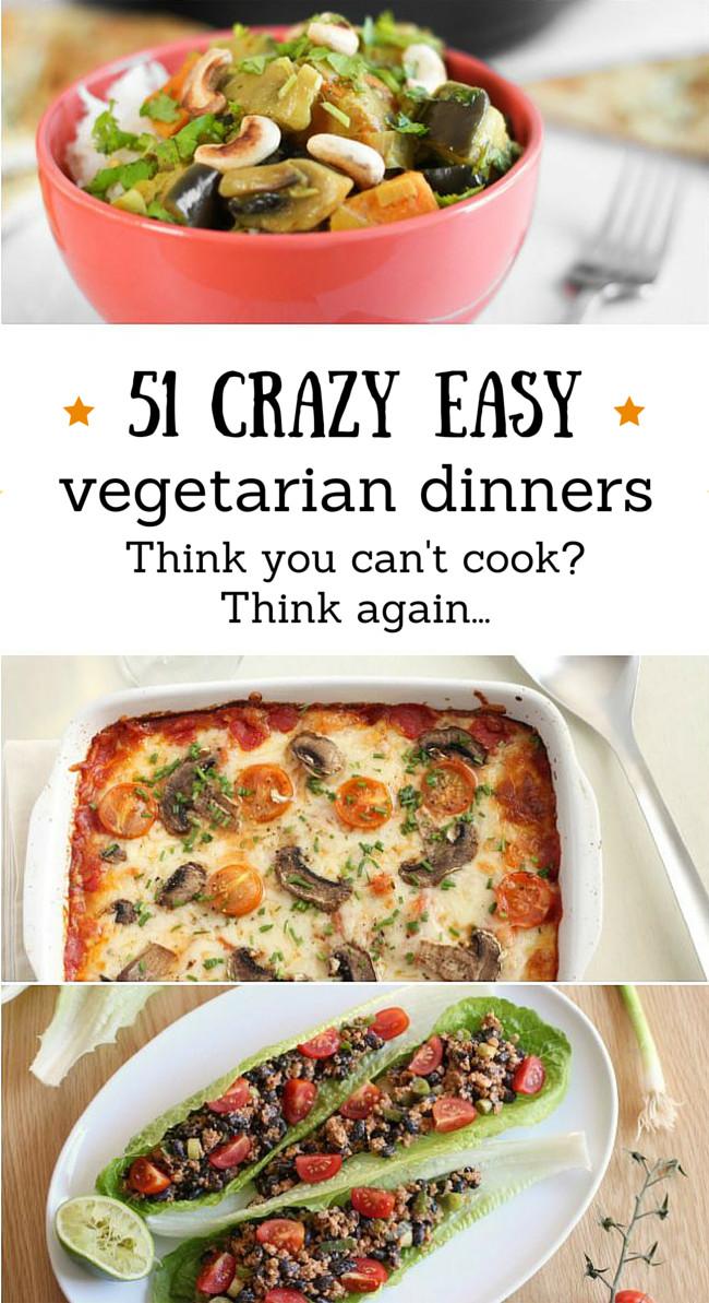Easy Healthy Vegan Dinner Recipes  Best 25 Easy ve arian dinner recipes ideas on Pinterest