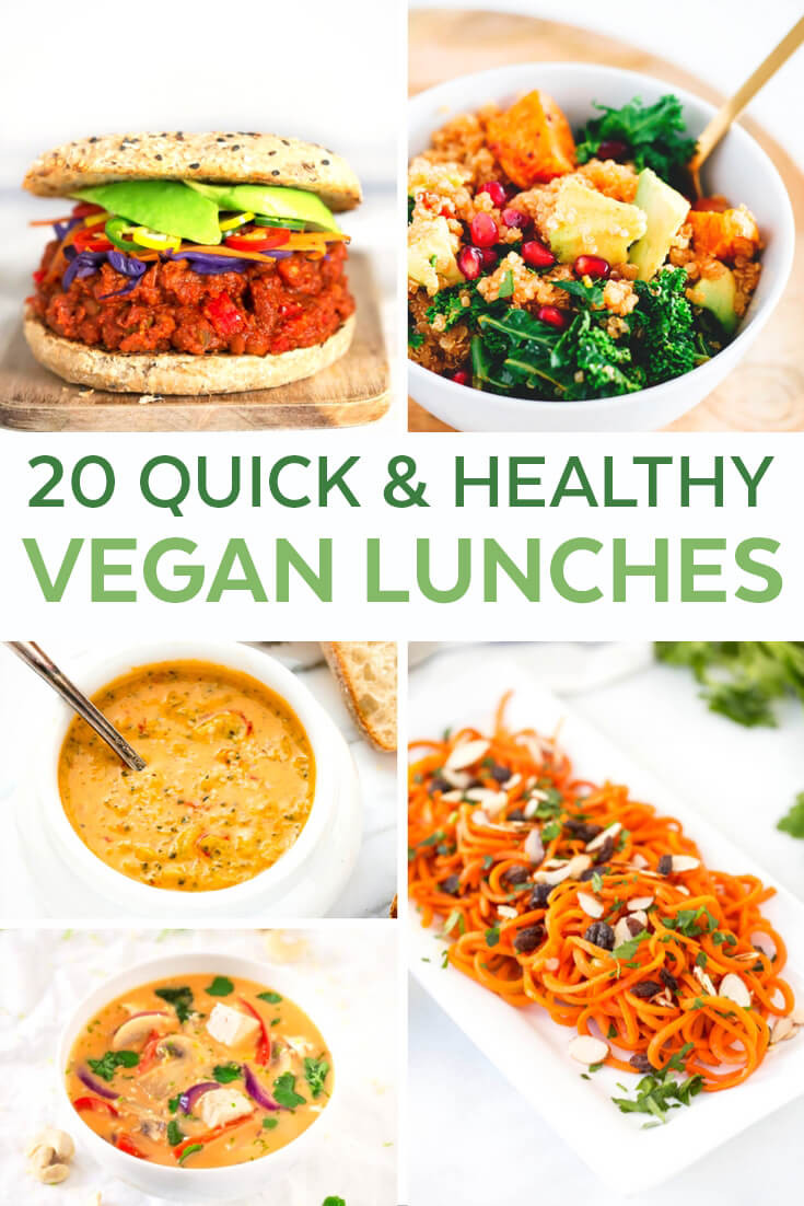 Easy Healthy Vegetarian Recipes  20 Easy Vegan Lunch Ideas