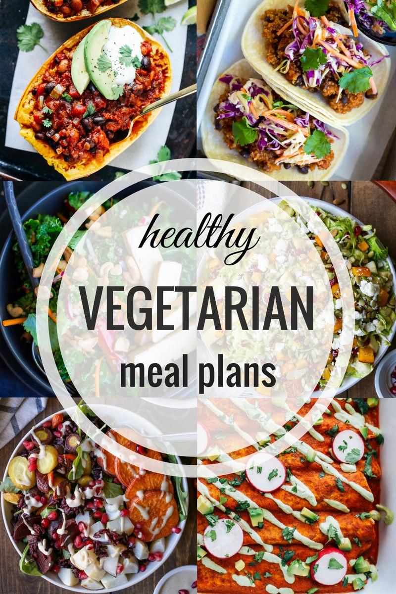 Easy Healthy Vegetarian Recipes  Healthy Ve arian Meal Plan Week of 1 21 2016