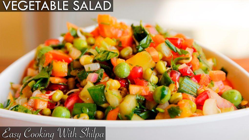 Easy Healthy Vegetarian Recipes  Healthy Ve able Salad Recipe