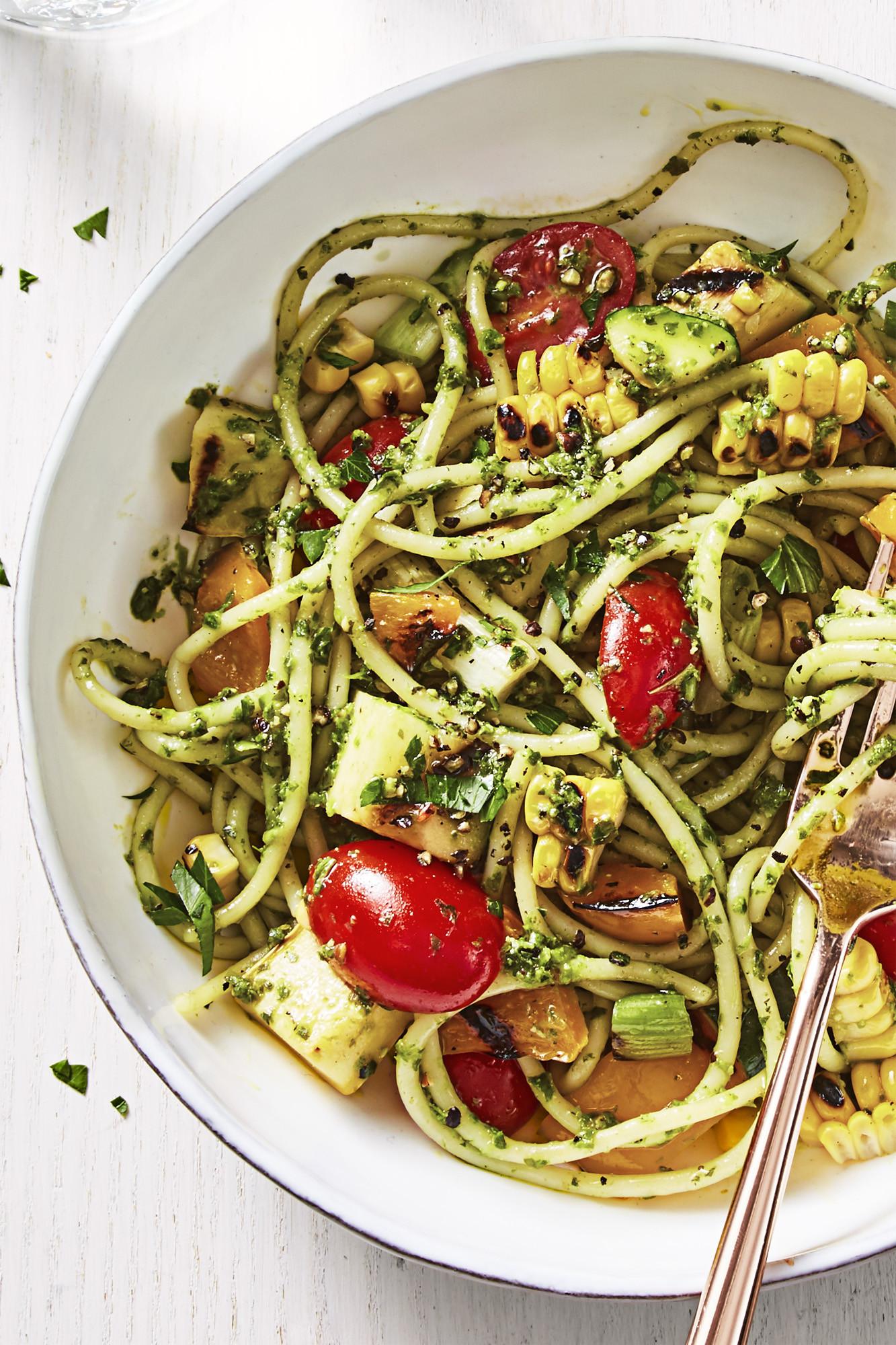 Easy Healthy Vegetarian Recipes  Best Summer Pesto Pasta Recipe How to Make Summer Pesto