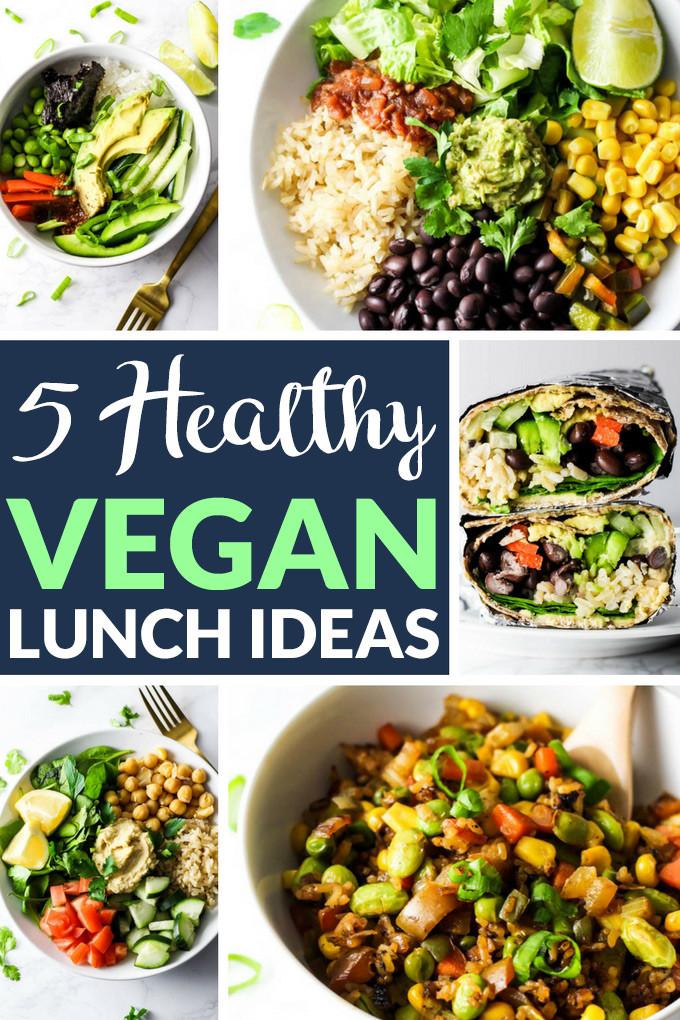 Easy Healthy Vegetarian Recipes  5 Healthy Vegan Lunch Ideas