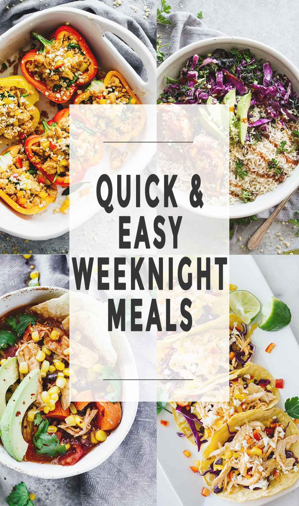 Easy Healthy Weeknight Dinners  Quick & Easy Weeknight Meals Jar Lemons