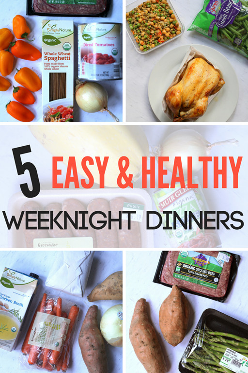 Easy Healthy Weeknight Dinners  This Week's Meal Plan 5 Healthy Weeknight Dinners
