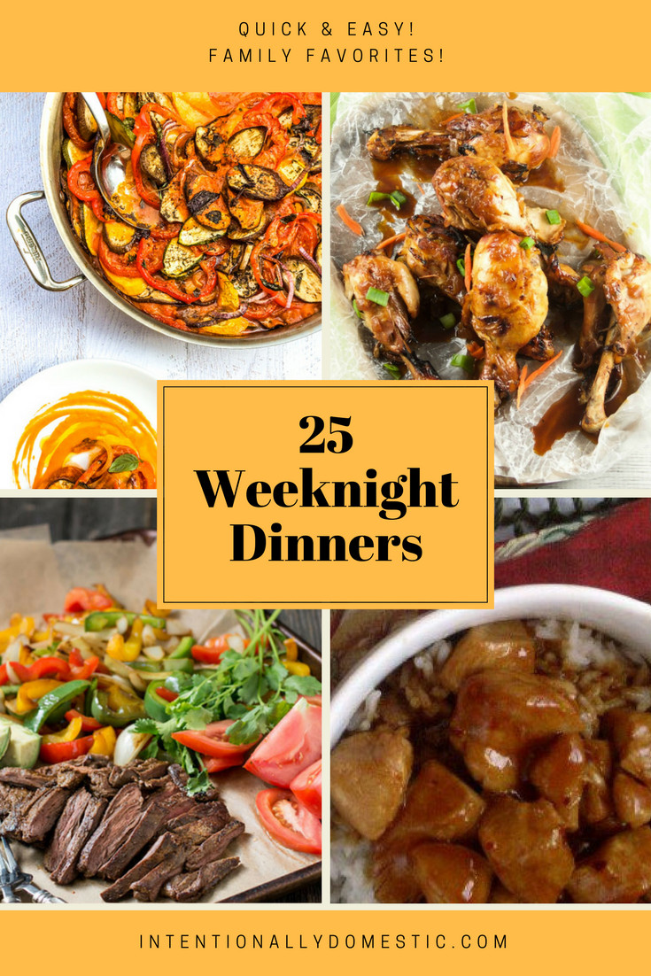 Easy Healthy Weeknight Dinners  25 Quick and Easy Weeknight Dinners