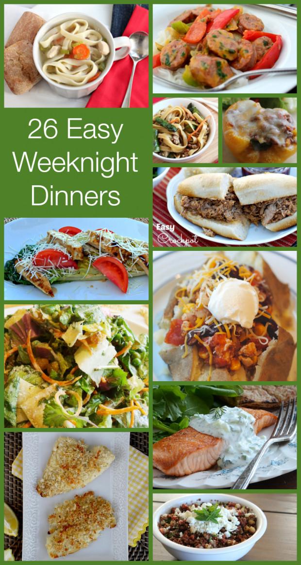 Easy Healthy Weeknight Dinners  EASY Weeknight Dinners