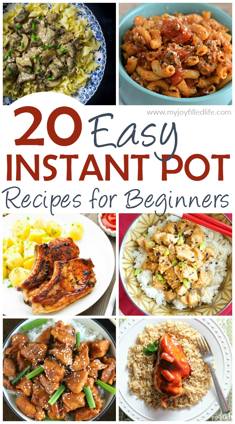 Easy Instant Pot Recipes Healthy  20 Easy Instant Pot Recipes for Beginners My Joy Filled Life