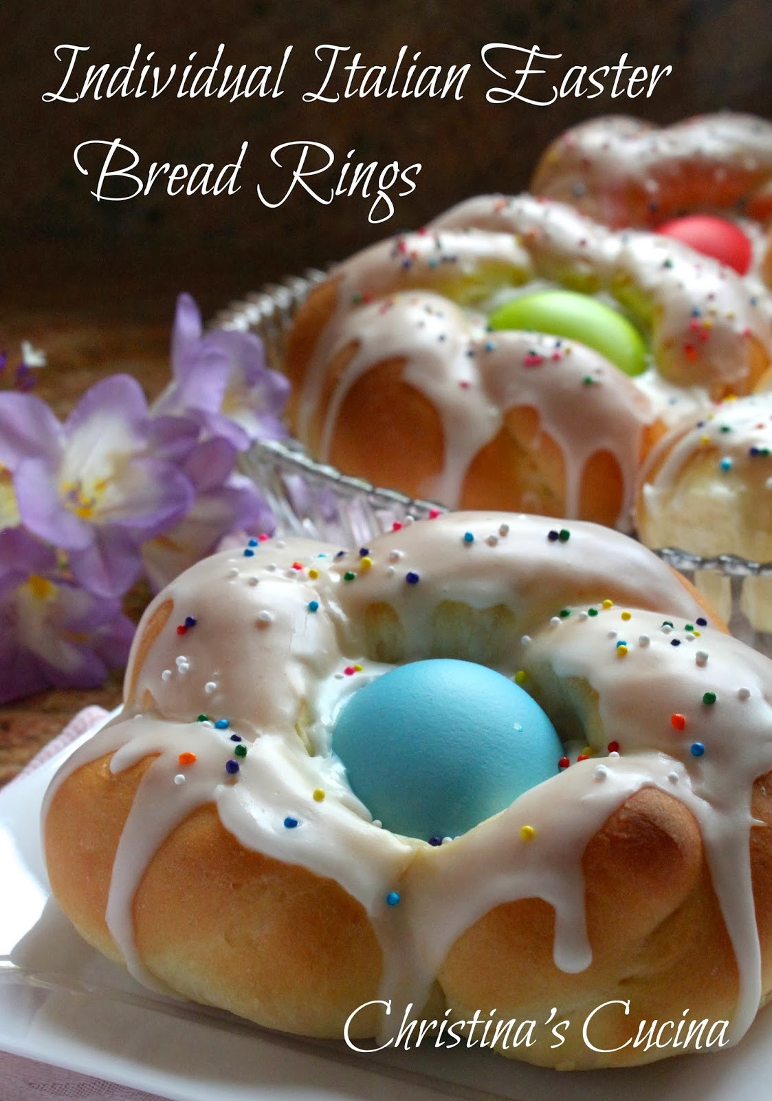 Easy Italian Easter Bread Recipe  Individual Italian Easter Bread Rings…Easy Step by Step