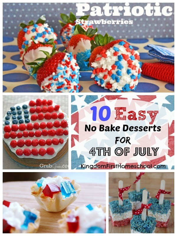Easy July 4Th Desserts  10 Easy No Bake Desserts for 4th of July