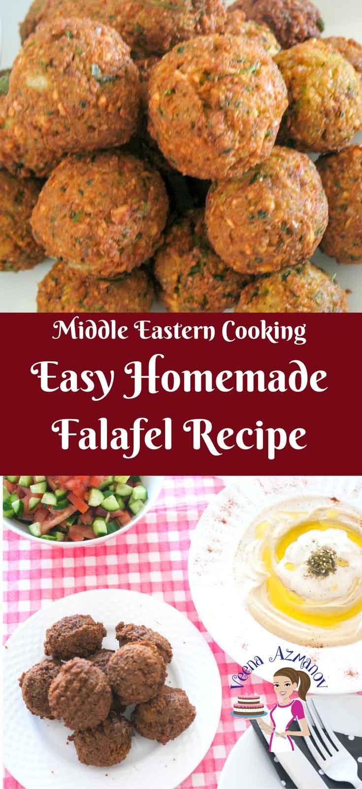 Easy Middle Eastern Recipes  Homemade Falafel Recipe Israeli Falafel Recipe Veena