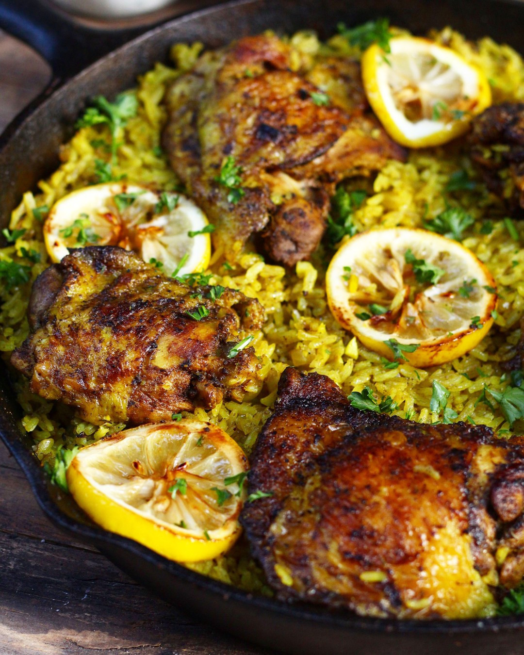 Easy Middle Eastern Recipes  e Pot Middle Eastern Chicken and Rice Ev s Eats