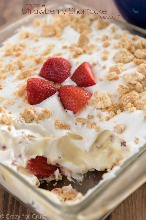 Easy No Bake Summer Desserts  Check out No Bake Strawberry Shortcake Dessert It s so
