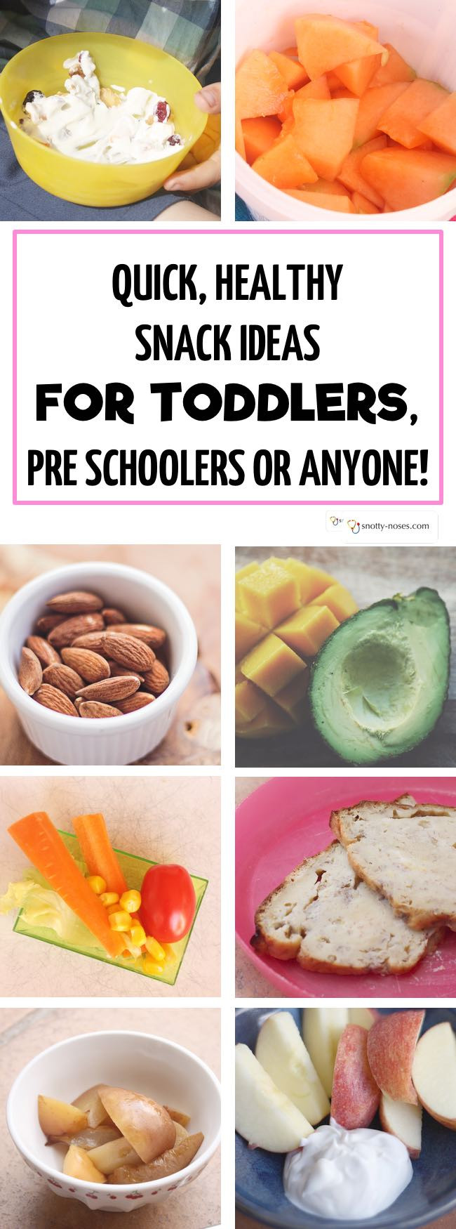 Easy Quick Healthy Snacks  Quick Healthy Snacks for Toddlers and Young Kids