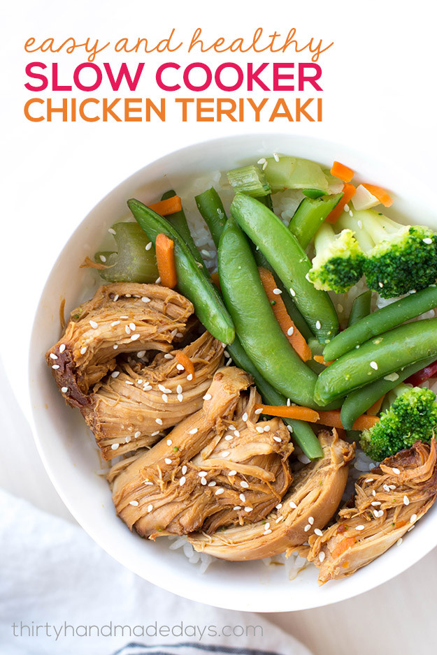 Easy Slow Cooker Recipes Healthy  Slow Cooker Chicken Teriyaki