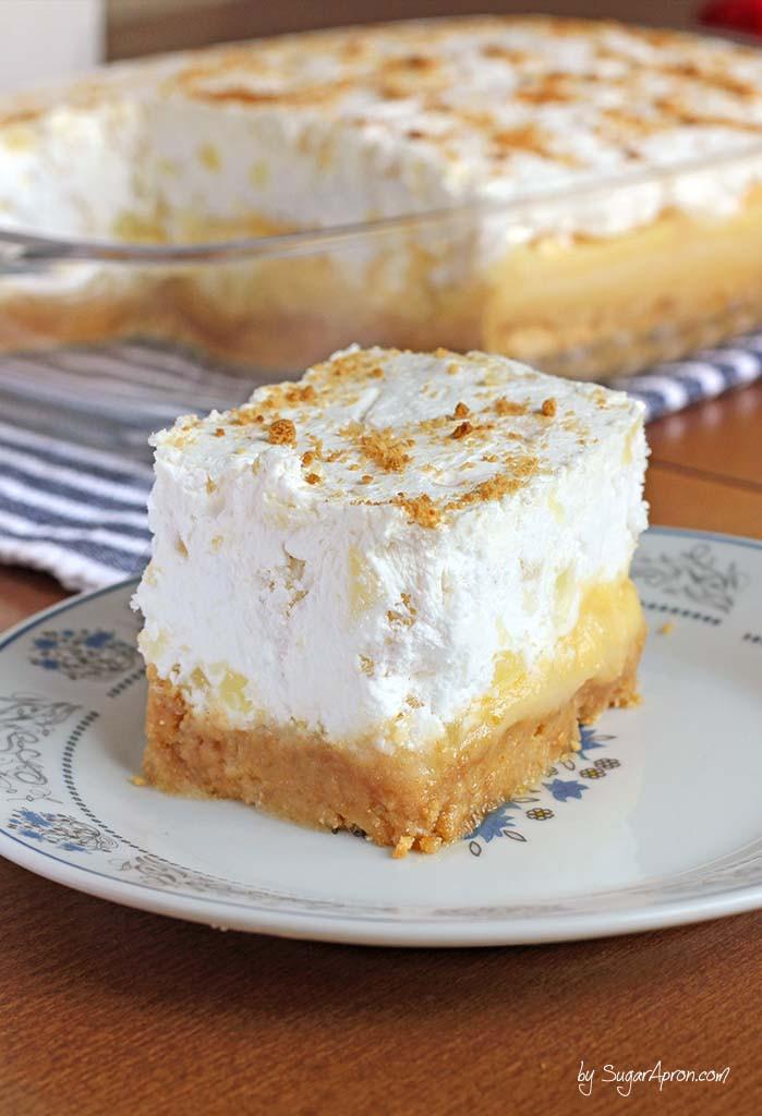 Easy Summer Desserts For A Crowd  Pineapple Delight Dessert Sugar Apron