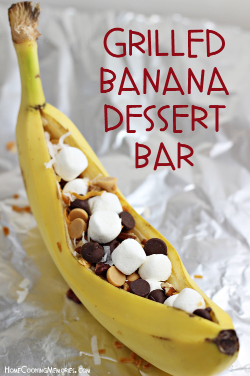 Easy Summer Desserts For Bbq  Easy Grilled Banana Dessert Bar Idea for Cookouts & Camping