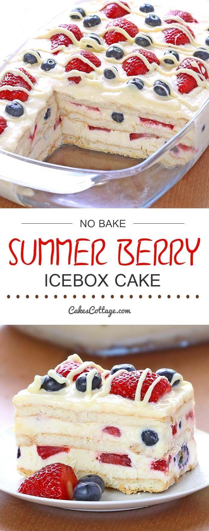 Easy Summer Desserts  No Bake Summer Berry Icebox Cake Recipe