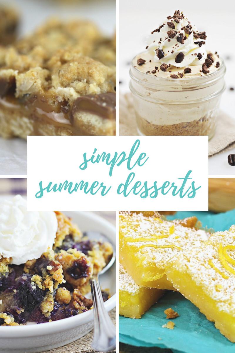 Easy Summer Desserts  Easy Summer Desserts