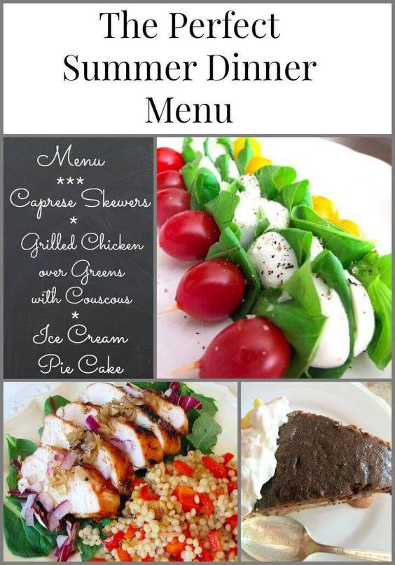 Easy Summer Dinner Recipes For Family  Dinner menu Dinner and Summer on Pinterest