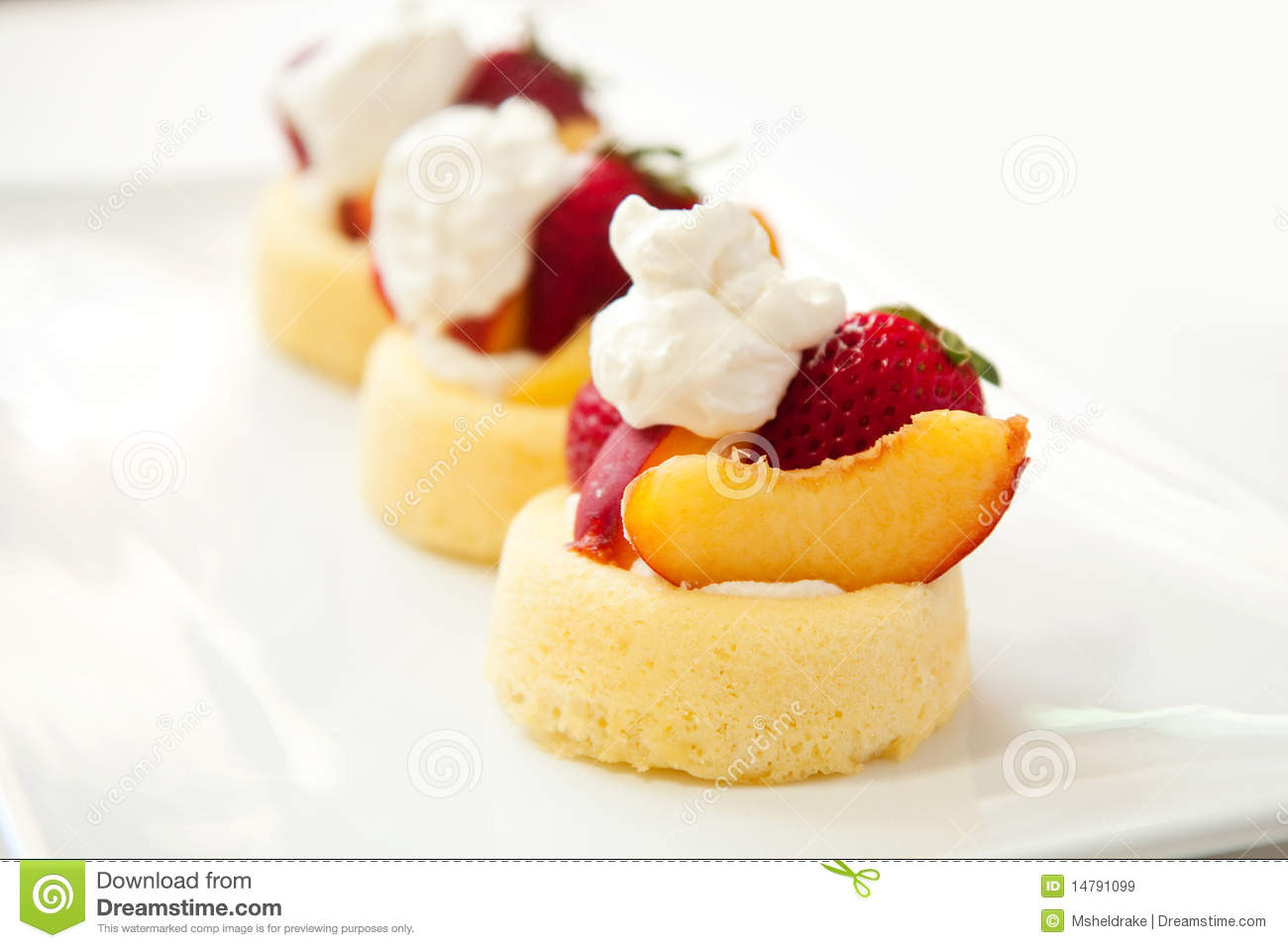 Easy Summer Fruit Desserts  Simple Summer Fruit Dessert Royalty Free Stock