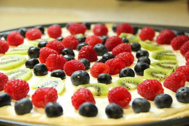 Easy Summer Fruit Desserts  Easy Summer Dessert Fruit Pizza Food