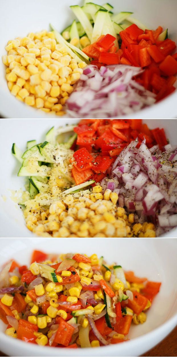 Easy Summer Side Dishes  Sweet Summer Roasted Ve ables Recipe