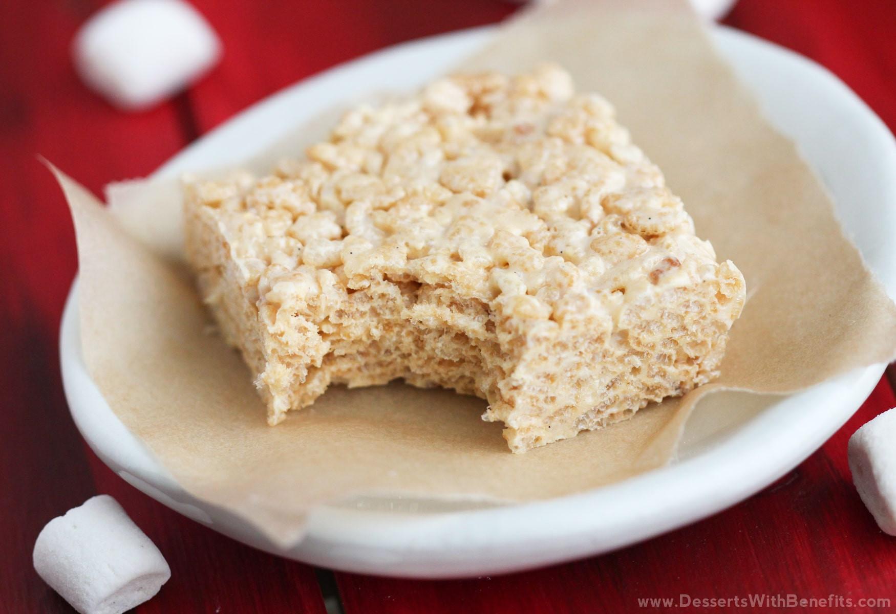 Easy To Make Healthy Desserts  Healthy Gluten Free Protein Krispy Treats Recipe