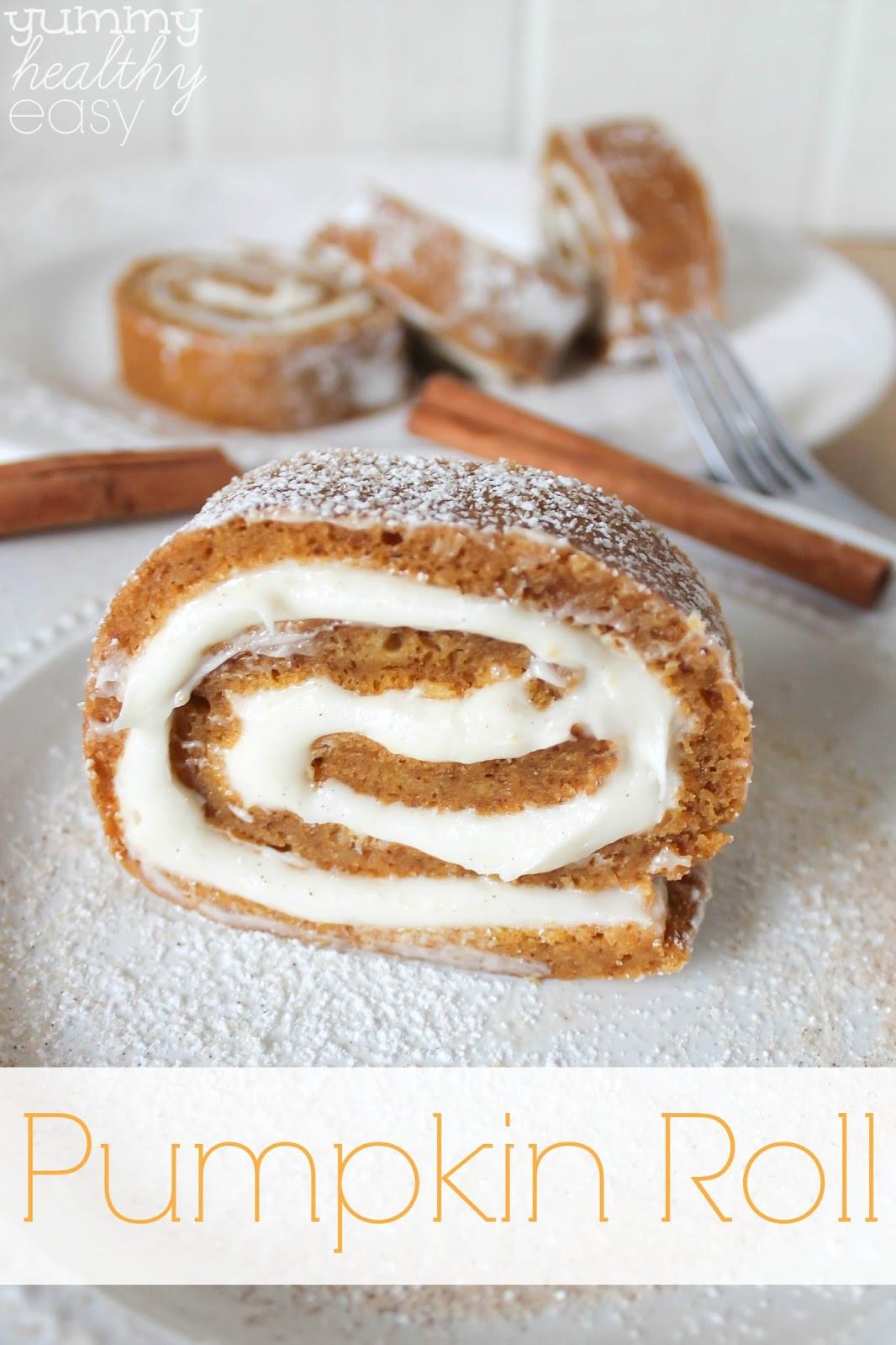 Easy To Make Healthy Desserts  Easy Pumpkin Roll Dessert Yummy Healthy Easy