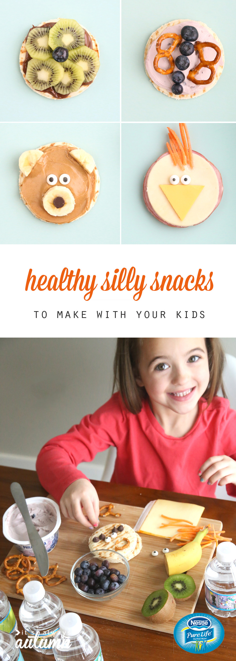 Easy To Make Healthy Snacks  silly snacks to make with your kids easy healthy It