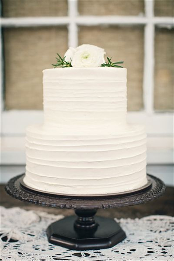 Easy Wedding Cakes  40 Elegant and Simple White Wedding Cakes Ideas Page 3