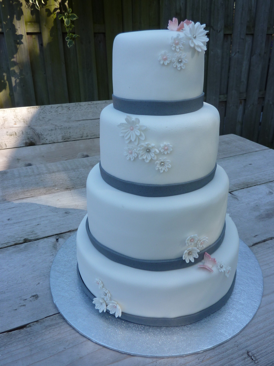 Easy Wedding Cakes  Simple Wedding Cake CakeCentral