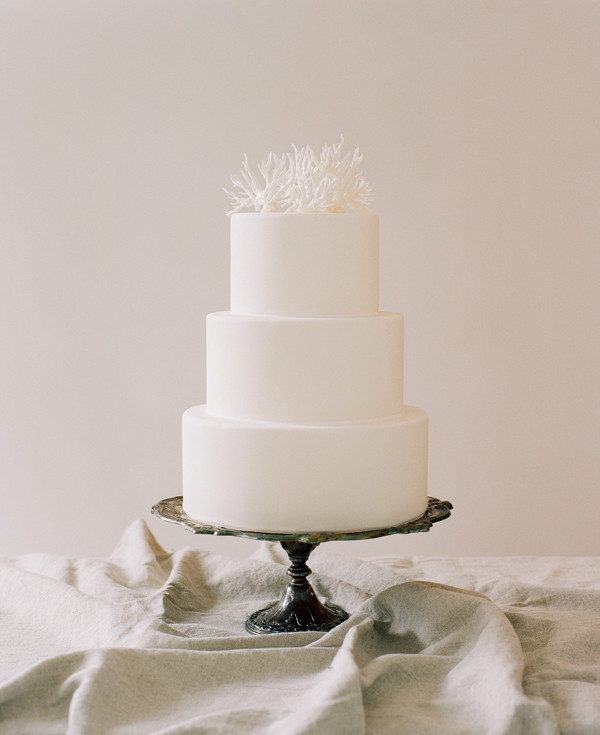 Easy Wedding Cakes  Simple Wedding Cakes Coral Cake Topper ce Wed