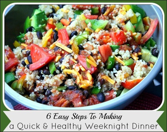 Easy Weeknight Dinners Healthy  How to Make A Quick Healthy Dinner