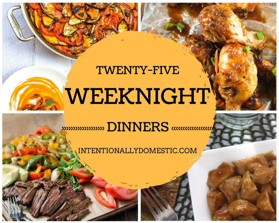 Easy Weeknight Summer Dinners  25 Quick and Easy Weeknight Dinners