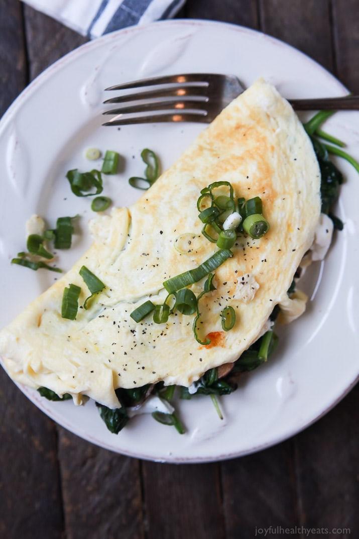 Egg White Breakfast Recipes Healthy  Mushroom Spinach Omelette Recipe