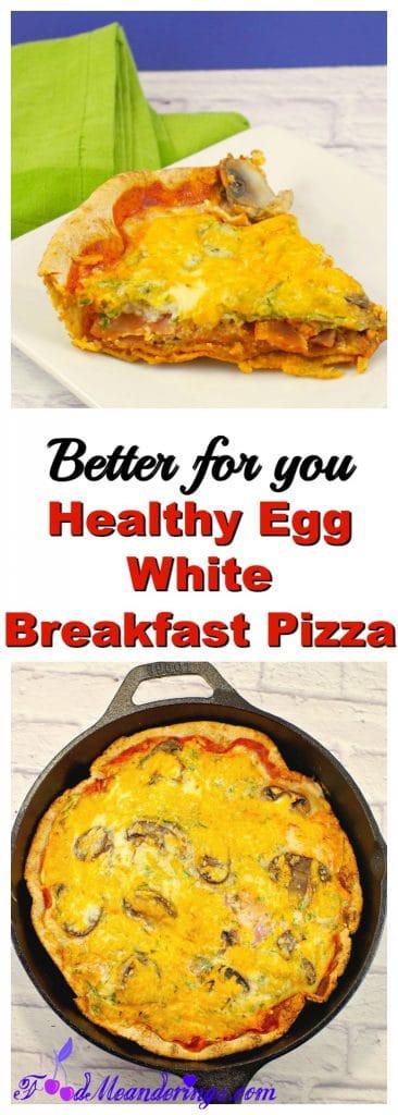 Egg White Breakfast Recipes Healthy  Better for you breakfast pizza egg white breakfast pizza