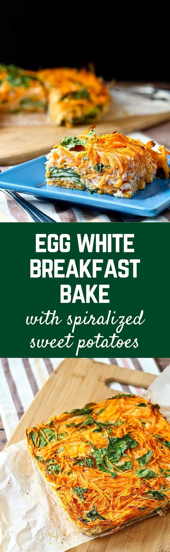 Egg White Breakfast Recipes Healthy  Egg White Breakfast Bake with Sweet Potato and Spinach